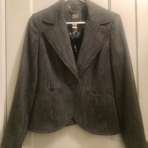Black and White Blazer Sz 4 Gray Color